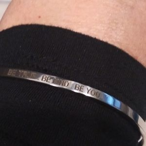 "NWT Stainless Steel ""Be Kind"" cuff bracelet."